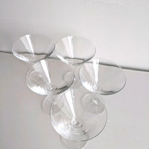 Set of 5 Martini Glass